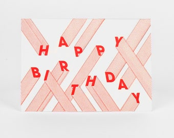 Drunk Happy Birthday Letterpress Card
