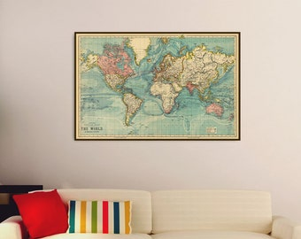Large map prints Etsy
