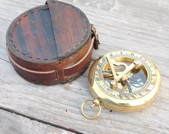 compass, sundial compass, nautical compass, engraved compass, personalized compass, groomsmen gift, wedding gift, anniversary, fathers day