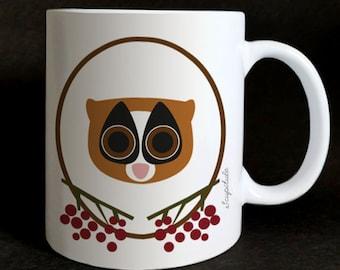 """Mug """"les Grozeuil"""" Donatien the lemur"""