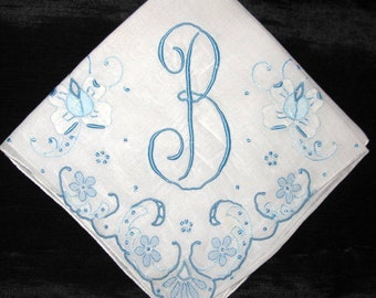 Creative ideas for Something Borrowed Wedding Bride Handkerchiefs B D E F S N M A G or J Letter Embroidered Monogrammed