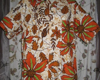 Mens Hawaiian Shirt by Likeke L - XL 60s 70s Vintage
