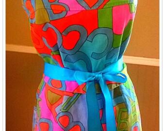 VINTAGE Swimsuit/  Pin up/Novelty Print  /Romper/50's 60's/ Mod/ Psychedelic/ Bullet bra/ Bathing suit/ Play suit/ Medium Size