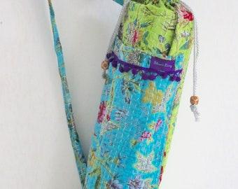 Yoga Mat Carrier Bag - Blue / Green