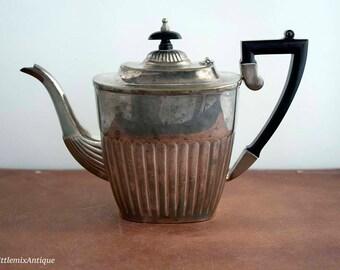 Vintage PSL Parkin Silversmiths Ltd Sheffield England Silverplated Coffee Pot with Bakelite Handle Retro English Silverplated Drinkware