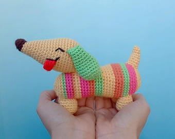 Colorful Amigurumi Doxie