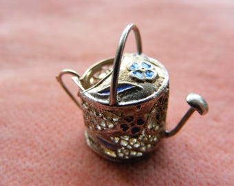 Vintage Sterling Silver Charm Watering can