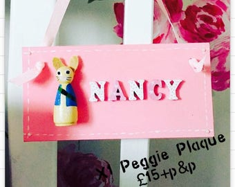 Personalised Peggie Name plaques x