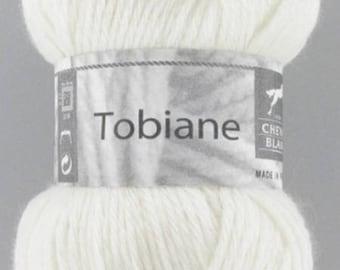 yarn TOBIANE # 016 ecru white horse