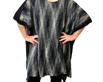 Black Plus Size Boxy Sweater, Plus Size Over SizeSweater, Lagenlook Sweater, Boxy Sweater,  Oversized Sweater, Plus Size Lagenlook