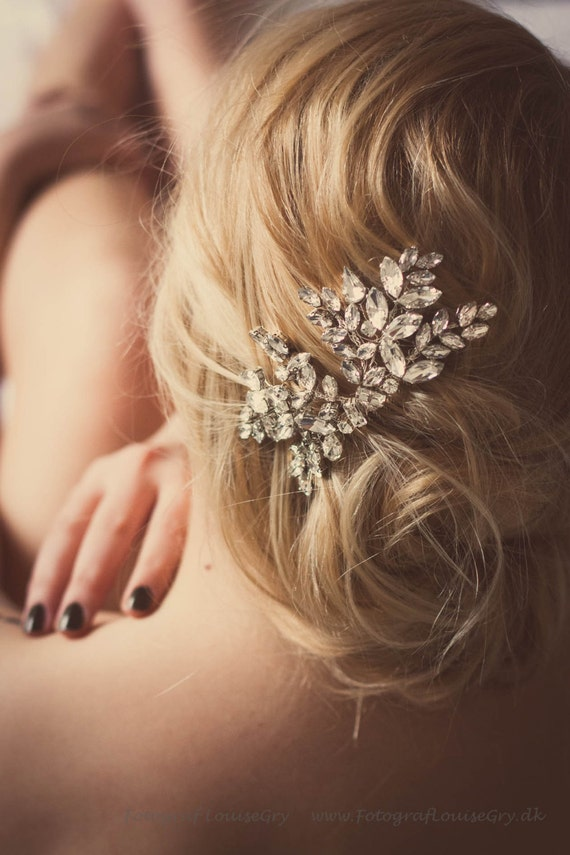 Custom Couture Crystal Wedding Hair Accessories Bridal