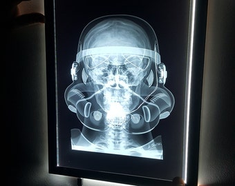 Star Wars inspired X-Ray Film Wall Art: Stormtrooper, Darth Vader, Boba Fett