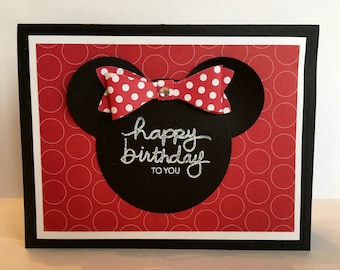 Minnie Mouse Inspired Birthday Card