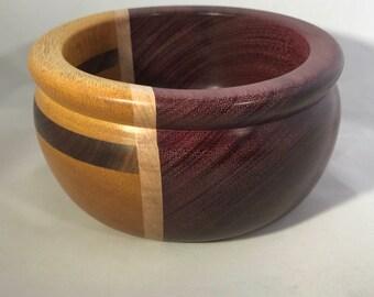 Purpleheart and Yellowheart Segmented Bowl