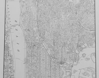 Bronx map Etsy