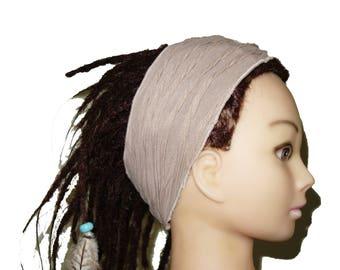 Beige adult headband bohemian.