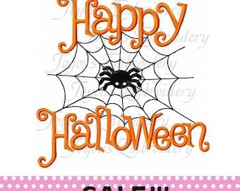 SALE!!!Instant Download Happy Halloween Applique Embroidery Design NO:1086