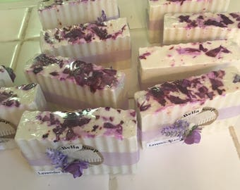 Lavender Lemon  Essential OIl Soap, Oatmeal Base