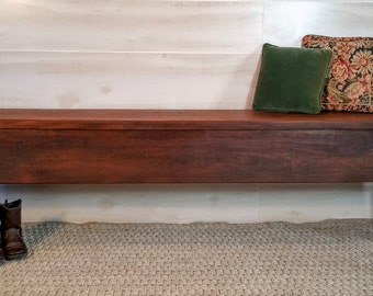 Walnut Bench, Wooden Bench, Wood Bench, Bench, Rustic Bench, Farmhouse Bench, Mudroom Bench, Porch Bench, Entryway Bench, Reclaimed Bench