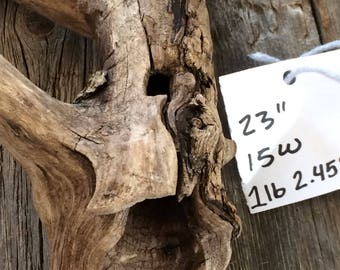 One of a kind driftwood, hand picked from the Mississippi River valley