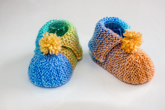 Knitting Pattern Pdf Super Easy Baby Booties Garter Stitch