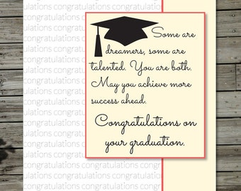 Dreamers and Achievers Graduation Card