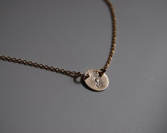 Gold Cancer Ribbon Necklace