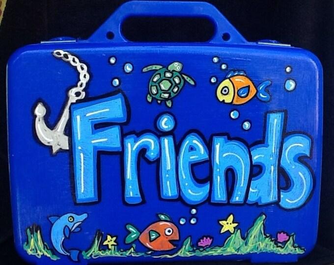 Under the sea activity box, Small activity case, art box, fish art box, small toy box, boys art box, boys game box, girls doll box