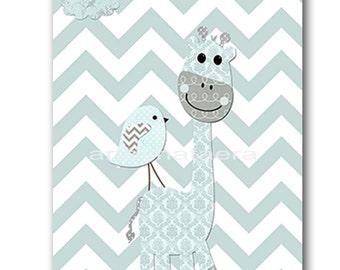 Giraffe Nursery Baby Boy Nursery Baby Nursery Decor Digital Download Art Printable Digital Download Print 8x10 11X14 INSTANT DOWNLOAD art