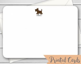 Dog Note Cards - 12pk, Dog Note Cards, Personalized Flat Note Cards, Printed with Envelopes (NC-012)