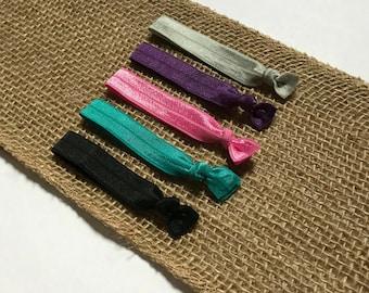Colorful Hair Tie Set   Elastic Hair Tie   Creaseless Hair Tie   Pink Hair Ties   Hair Tie Favor   FOE Hair Tie   Hair Tie Bracelet