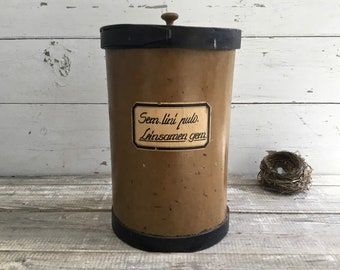 Vintage Apothecary Bin, European Druggist Pharmacy Cannister