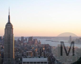 Empire State Building Photography with Hudson river/Urban photography/New York Photography/Sunset in Manhattan/Manhattan Skyline/Nueva York