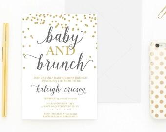 Baby Shower Invitation, Baby Shower Brunch, Baby Shower Brunch Invitation, Gender Neutral Baby Shower Invites, Baby Shower Invitations [479]