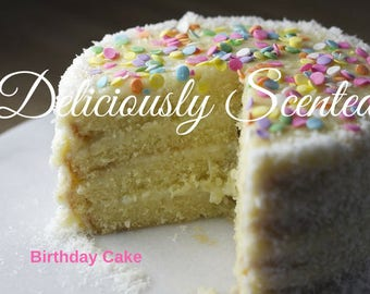 BIRTHDAY CAKE Fragrance Oil 2 or 4 oz for candles, soap, perfume oil, cosmetics, soap making, pure, skin safe, supply, concentrated, DIY
