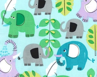 PRICE REDUCED!! Pachyderm Shower in Aqua - for Michael Miller - by the yard
