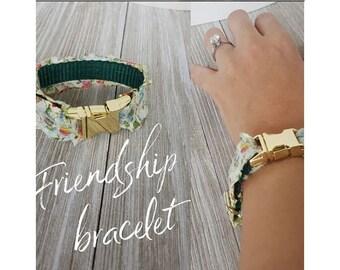 Floral Friendship Bracelet to match Dog Collar, Furship Bracelet