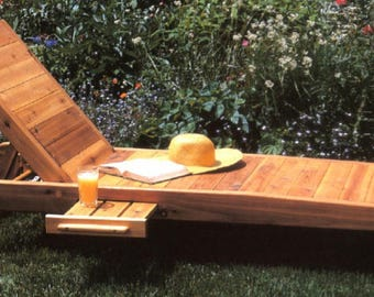 Chaise Lounge With Pull Out Drink Tray Woodworking Plans