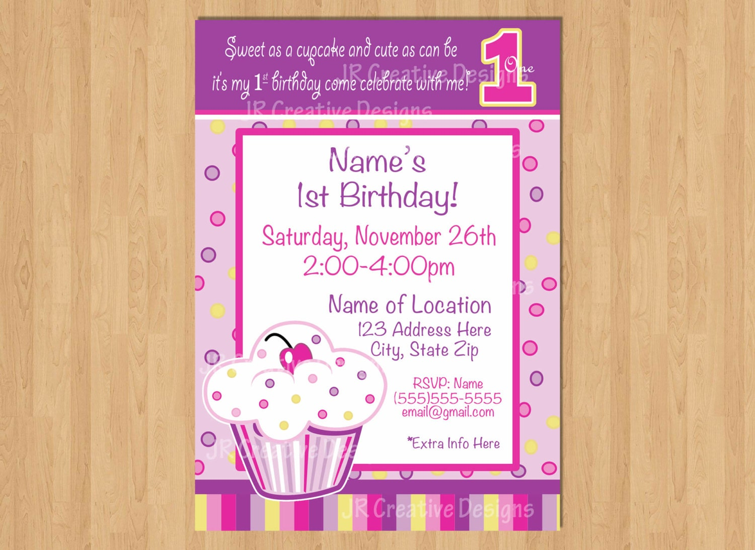 Cupcake invitation lil cupcake invite birthday party photo zoom filmwisefo Gallery