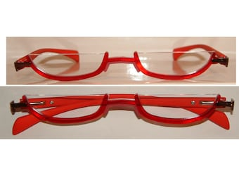 Anime Red Slim Under Frame Cosplay Costume Glasses