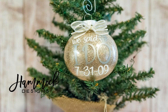 Wedding Gift Ornaments: Wedding Ornament Christmas Ornament Wedding Gift Our First