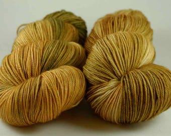 Hand Dyed Yarn - MCN Fingering - 'Bronze Age - 400 yards - 70/20/10 Superwash Merino/Cashmere/Nylon