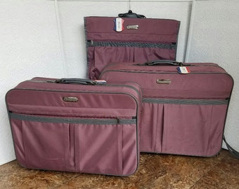 American Tourister Luggage, Vintage Luggage, Set of 3 Suitcases, Mid  Century Luggage, Soft Side Luggage, American Tourister Set