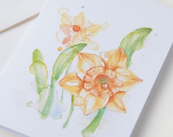 Yellow Daffodils Spring Flower Greeting Card Set of 5