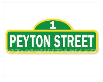 Sesame Street Inspired Birthday Sign 8 1/2 x 11 - Customized Digital File
