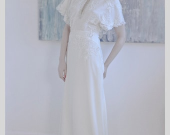 Harlow dress - Lace and georgette 1940's inspired bridal dress