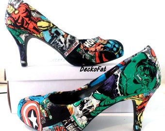 Avengers Fabric Low Heels