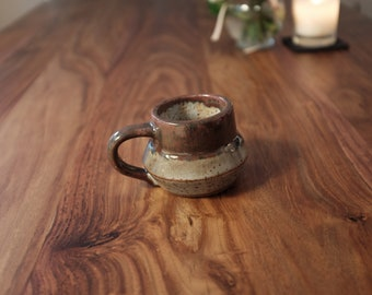Stoneware hand thrown coffee / tea mug