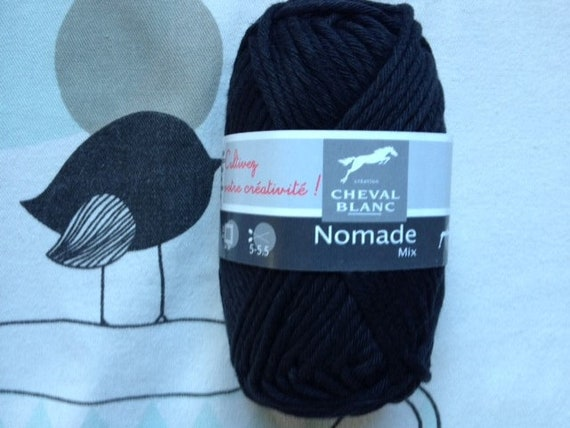 WOOL Mix black - white horse Nomad