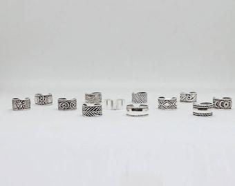 Tiny  earcuffs  12 styles   , classic cuffs , Sterling silver ear cuffs , boho jewelry ear cuffs , no pierce earrings